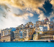 View on Valletta from sea Royalty Free Stock Image