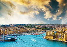 View on Valletta from sea Stock Images