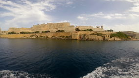 View on Valletta from the sea stock video