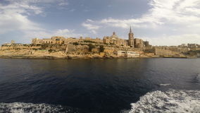 View on Valletta from the sea stock video footage