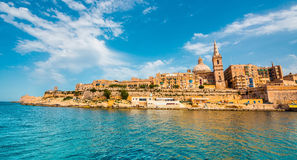 View on Valletta from the sea Royalty Free Stock Image