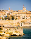 View of Valletta from sea Royalty Free Stock Photo