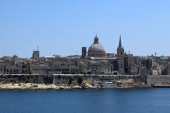 View of Valletta from Sliema waterfront, Malta. View of Valletta from Sliema waterfront Royalty Free Stock Photos