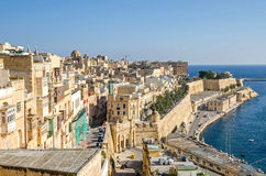 View of Valletta with Victoria Gate Stock Image