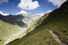 View of the valley. A view of an Austrian valley Royalty Free Stock Photos