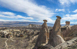 View of valley of Capadocia. Turkey. View of rocks of Capadocia Royalty Free Stock Photo