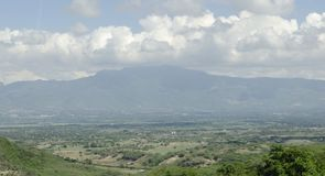 View of the valley of the city of Santiago de los Caballeros stock photography