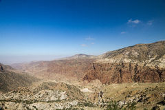 View of the valley from Dana village Stock Photography