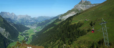 View at valley of Engelberg Stock Photography