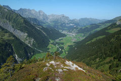 View at valley of Engelberg Stock Images