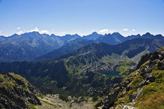 View of the valley of five ponds Polish in Tatras Stock Photography