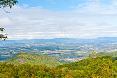 View of valley and forest mountain. Stock Photography
