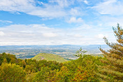 View of valley and forest mountain. Royalty Free Stock Photo