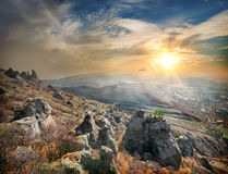 View at Valley of ghosts Stock Photography