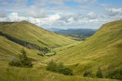View of the valley at Glengesh Pass Co. Donegal.  stock image