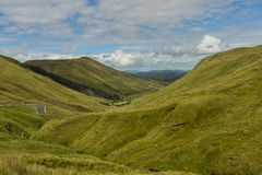 View of the valley at Glengesh Pass Co. Donegal.  stock photography