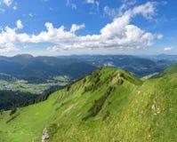 View of the valley Kleinwalsertal royalty free stock photo