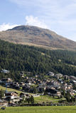 View of the valley, Livigno, Italy Stock Photo