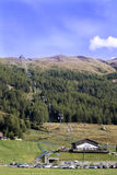 View of the valley, Livigno, Italy Stock Image