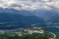View of valley near Villach, Austria Royalty Free Stock Images