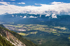 View of valley near Villach, Austria Royalty Free Stock Image