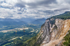 View of valley near Villach, Austria Royalty Free Stock Photography