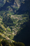 View on the Valley of Nuns, Madeira Island, Portugal. Village in The Valley of Nuns Madeira Island, Portugal Royalty Free Stock Photo