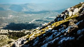 Landscape view of a Valley from a Peak within the Biokovo Mountains in Makarska, Croatia stock images