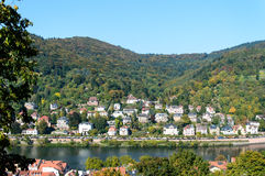 View of the valley of the river Neckar in Heidelberg, Germany Royalty Free Stock Images