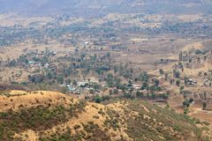 View of the valley from Sinhagad fort ,Pune, Maharashtra. India stock images