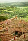 View of the valley spring in Volterra royalty free stock photo