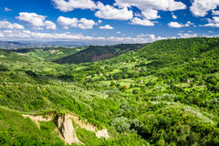 View of the valley summer in Tuscany Royalty Free Stock Photos