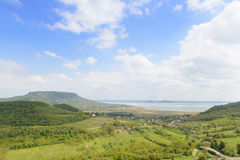 View on valley from Szigliget castle. Hungary Royalty Free Stock Photo