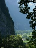 Grindelwald. Switzerland. The valley of the small town royalty free stock photos