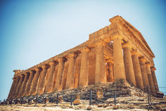 View of the Valley of the Temples in Agrigento, Sicily, Italy Royalty Free Stock Photography