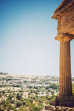 View of the Valley of the Temples in Agrigento, Sicily, Italy Royalty Free Stock Images