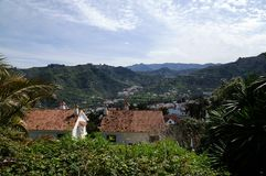 View into the valley of Teror Royalty Free Stock Photos