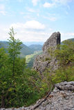 View on the valley - Trnovo plateau Slovenia Royalty Free Stock Photography