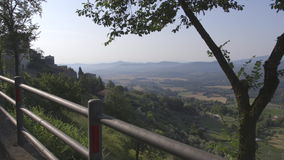 View of the valley in Tuscany. Shooting of the valley of a little town in Tuscany stock footage
