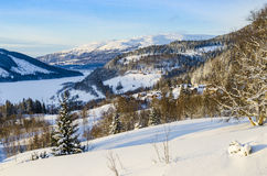 View Are valley wintertime Royalty Free Stock Photos