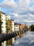 View of the Vallgraven Canal Royalty Free Stock Photo