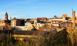 View of Valls in winter day. Tarragona Royalty Free Stock Image