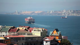 View of Valparaiso in Chile. View of Valparaiso from the hill. Chile stock video footage
