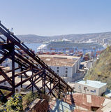 View of Valparaiso city and bay Royalty Free Stock Image