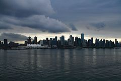 Vancouver, BC After the Storm stock images