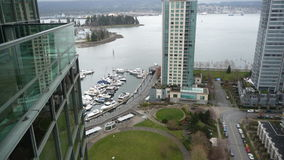 View of Vancouver Coal Harbour Royalty Free Stock Image