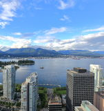 View from Vancouver  Downtown on Vancouver Harbor Royalty Free Stock Photo