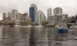 View of vancouver from Granville Island Stock Photo