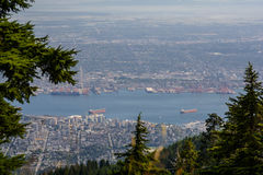 View of Vancouver from Graus Mountain. A high angle view of Graus Mountain Stock Images