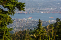 View of Vancouver from Graus Mountain. A high angle view of Graus Mountain Royalty Free Stock Photography